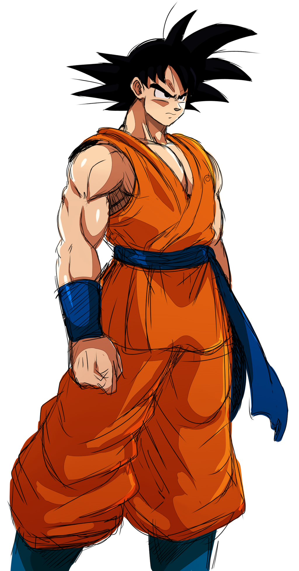 Son Goku Doodle By Ss2sonic On Deviantart