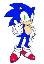 Sonic doodle by ss2sonic