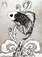 Inked Koi by Legendary-Darkness