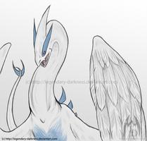 Sketch: Lugia by Legendary-Darkness