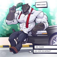 Limo Driver by TheFabulousCroissant