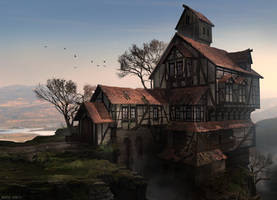 The Lonely Lakeview Tavern by MvGorlei