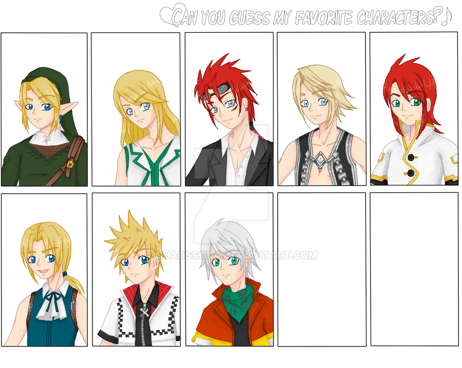 Guess My Fav Characters-Color by ChaosSoda