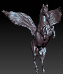 Zbrush sculpt- Pegasus