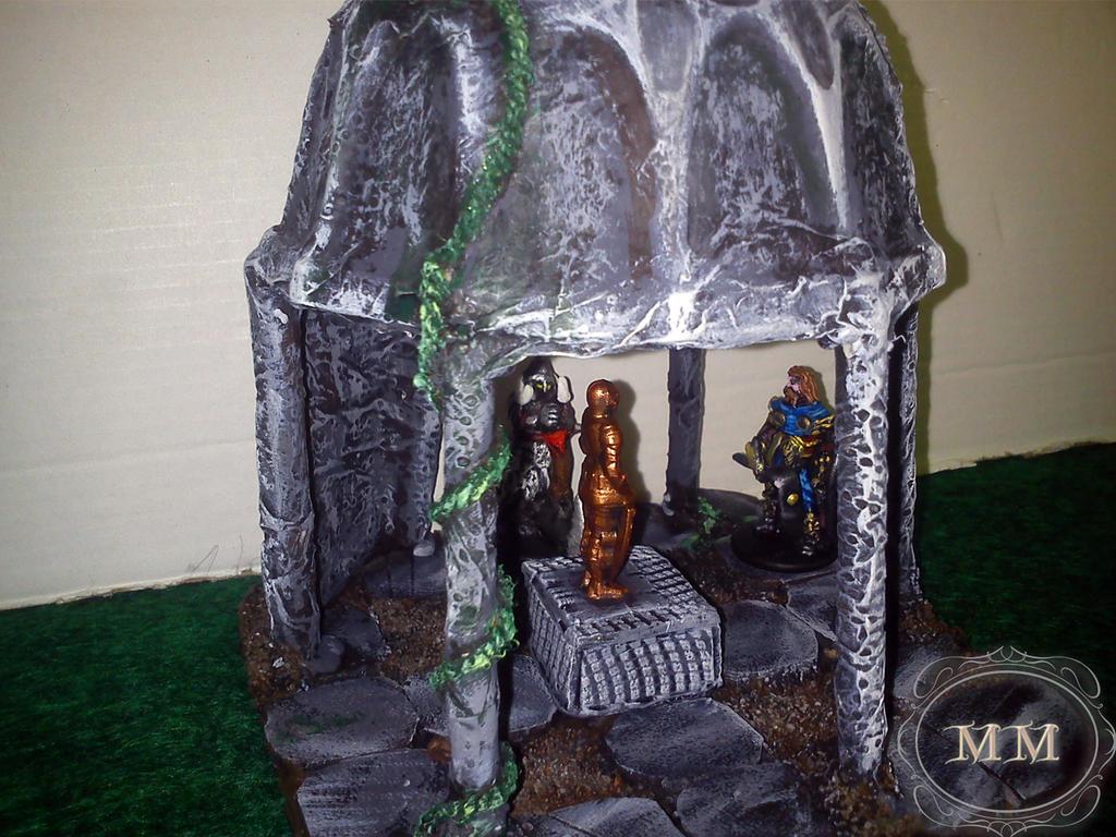 Longilis i mroczny jeździec badają kaplicę