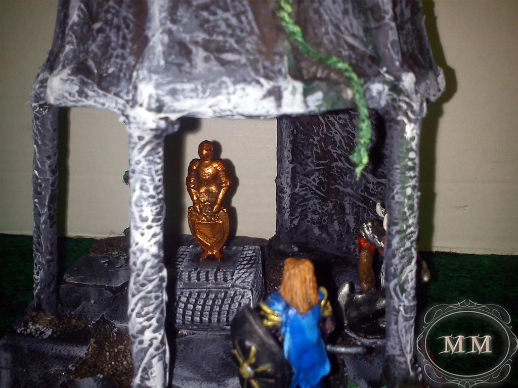 Zbliżenie na wnętrze kaplicy rycerskiej