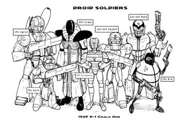 Droid Soldiers: ISOF D-1 Chalk One