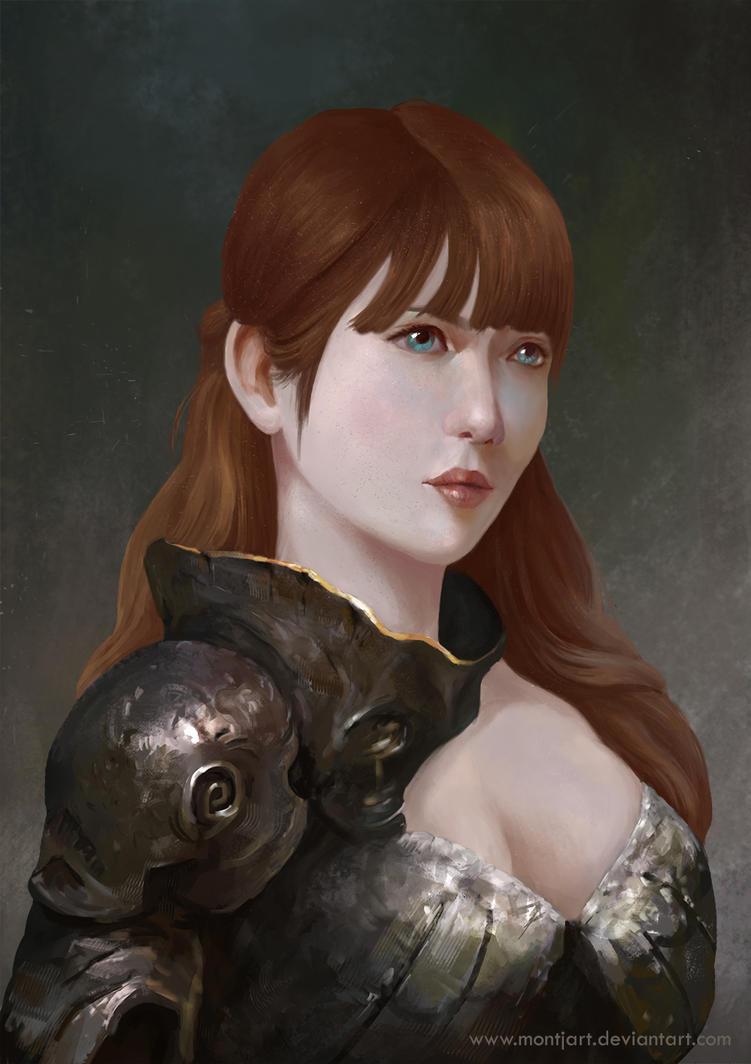 Woman warrior by Montjart