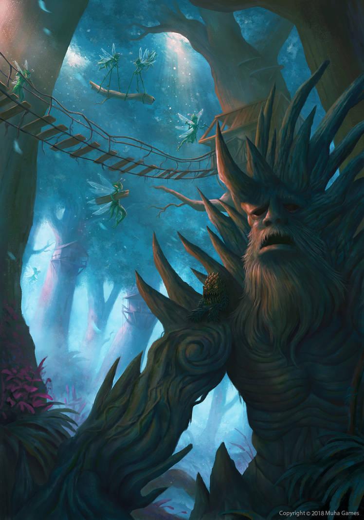 Forest demon village by Montjart