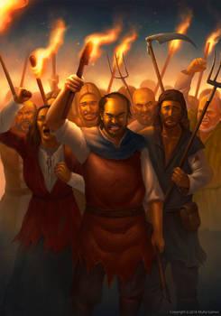 Angry mob of peasants