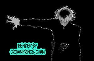 [RENDER] Sasaki Haise / Kaneki Ken (Tokyo Ghoul) by crownprince-chan