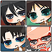 F2U :: [Attack on Titan] Icons by UnderworldPP