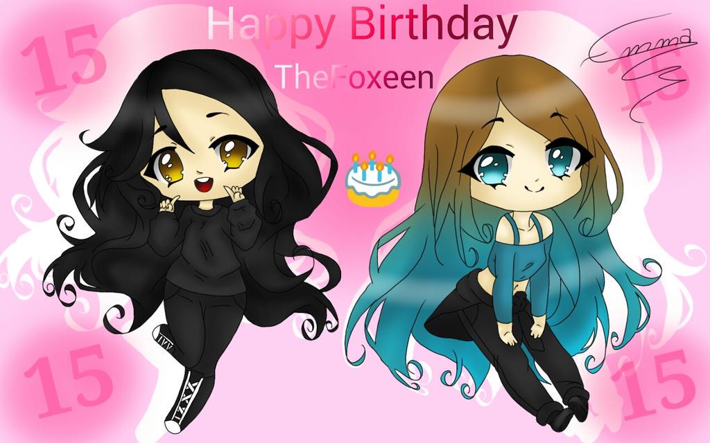 Happy Birthday TheFoxeen/Elisa !!! by AyanoThePanda