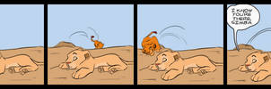 Nala scares Simba
