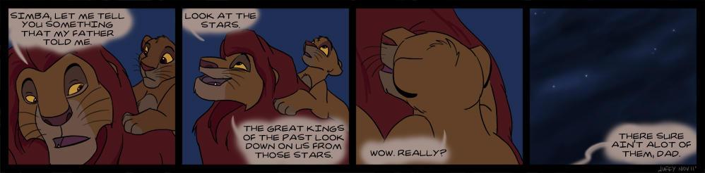 Look at the stars, Simba