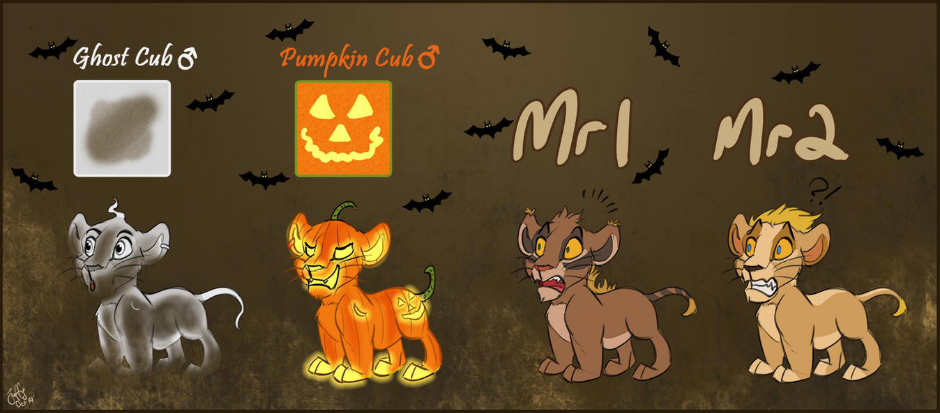 Halloween Naturalis + 2 normal cubs:Auction CLOSED by Juffs