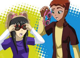 YJ: Goggle Buddies by AmayahimeDoodles