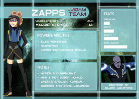Dream Team App: Zapps by AmayahimeDoodles
