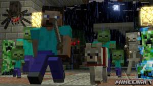 (Sfm Minecraft) Run Steve Run