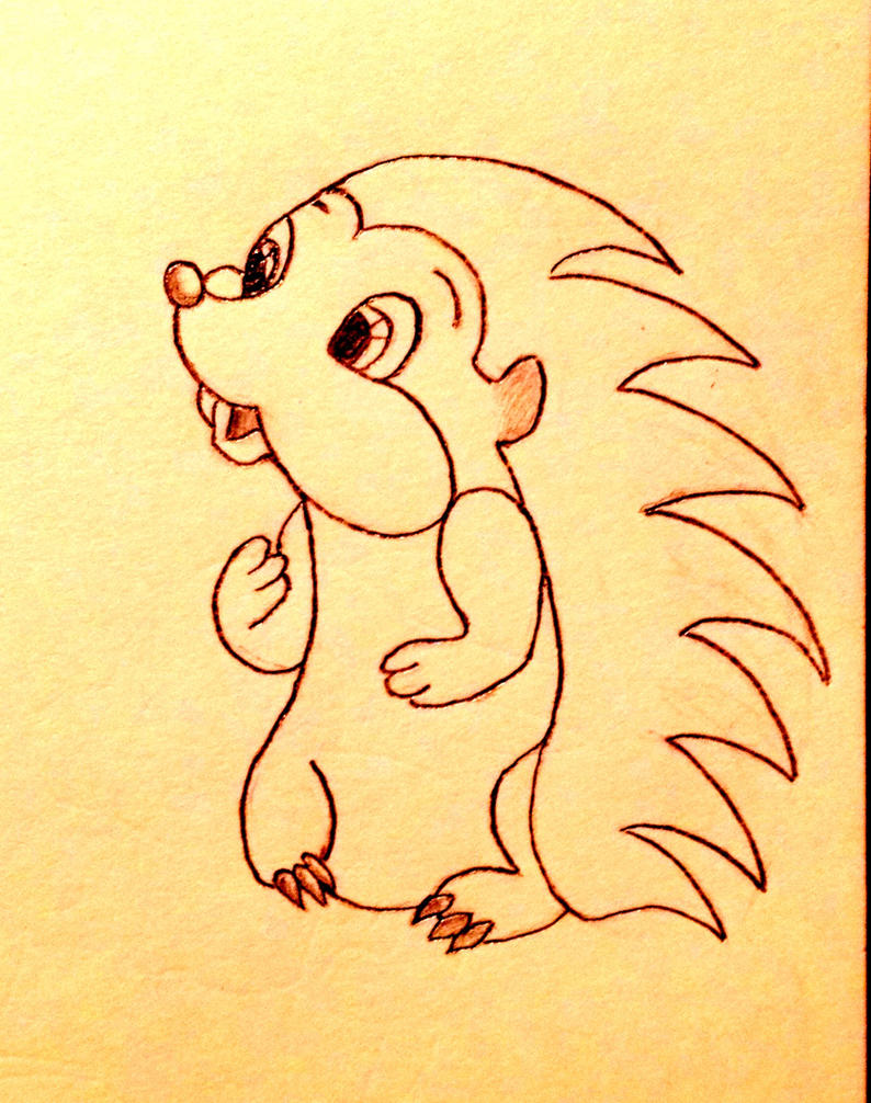 CUTE HEDGEHOG DRAWING by slapshot2110 on DeviantArt