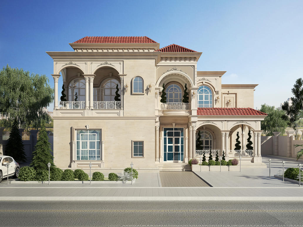 Classic Front Elevation Of House : Classic villa by amr maged on deviantart