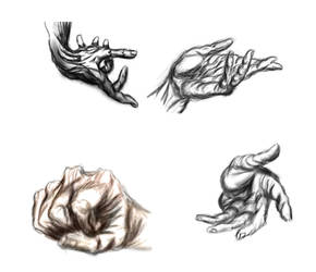 Hogarth Hands by RaczTamas