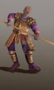 Warhammer style warrior