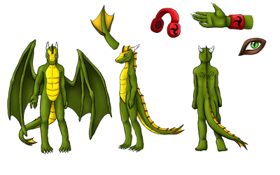 Akahito Anthro RefSheet by AkahitoTheDragon