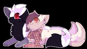 Taru And Yuni  By Siientcat by TaruKitsune