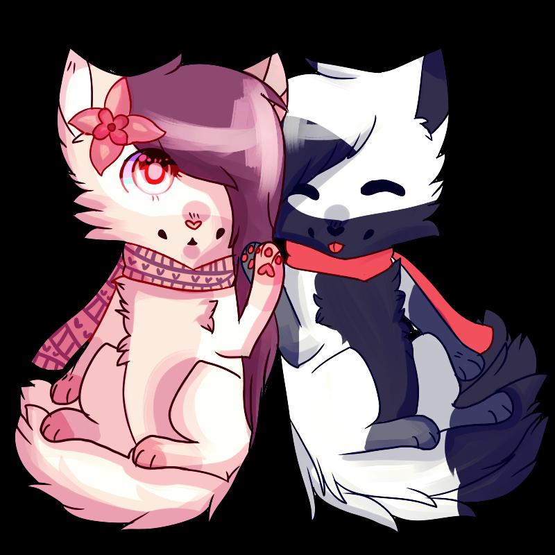 Taru and Yuni chibi By Bunnyklns by TaruKitsune