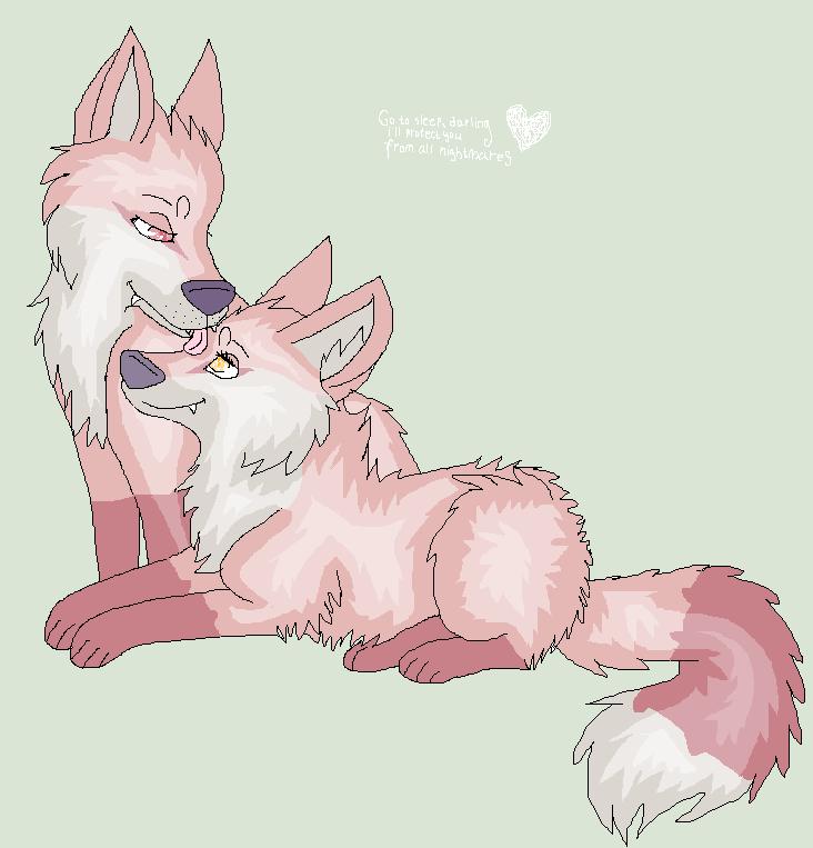 Taru And Yuni By Meteoritewolf by TaruKitsune