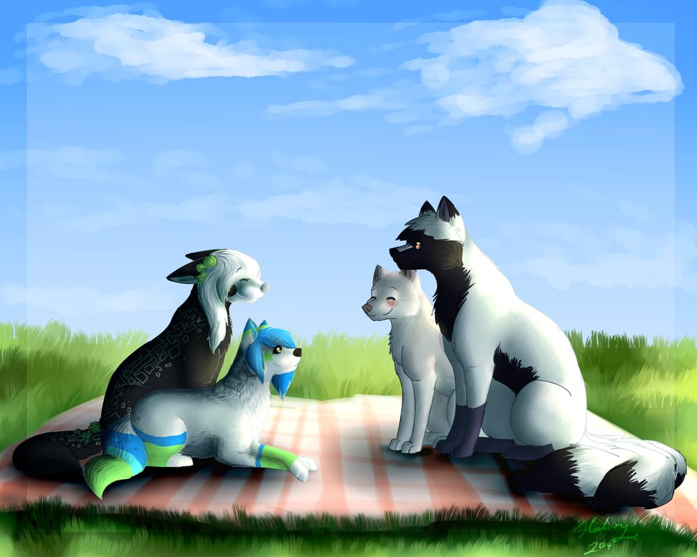 The Friendly Gathering By Darkwolfartist by TaruKitsune