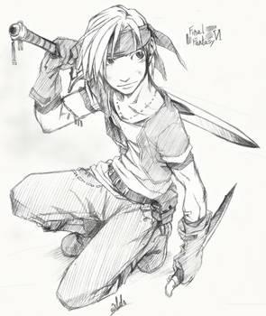 FF VI Sketch- Locke