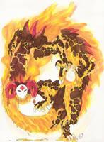 The Fire God by RaptorBarry