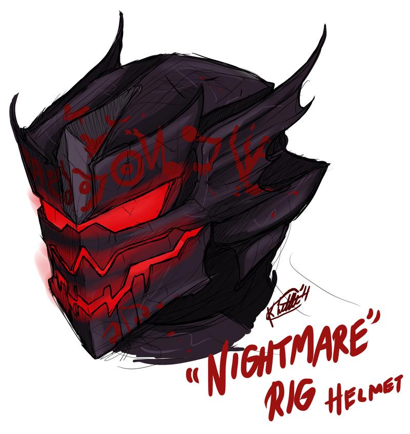 Nightmare Suit Helmet by RaptorBarry