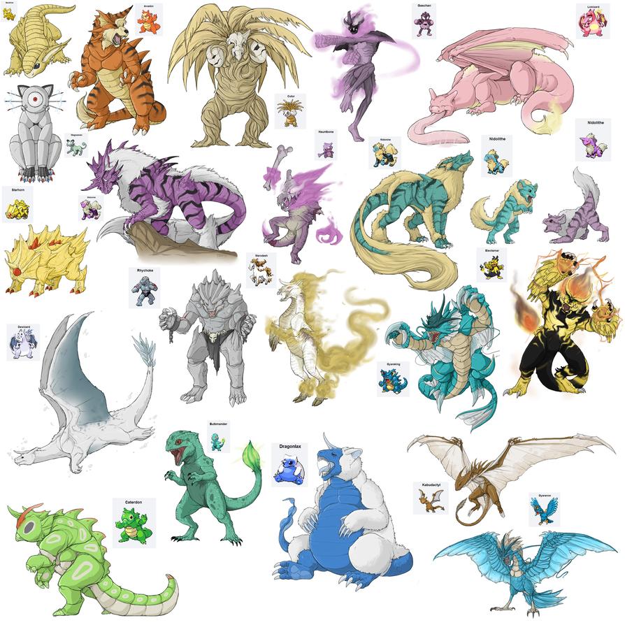 Pokemon Fusions By RaptorBarry On DeviantArt