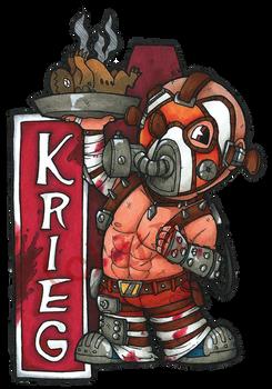Krieg the Psycho Badge