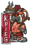 Krieg the Psycho Badge