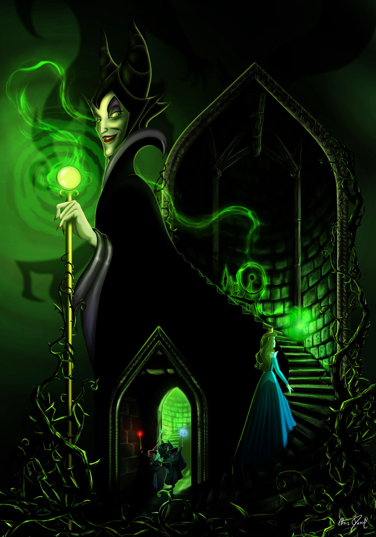 SLEEPING BEAUTY - Touch the spindle! (Maleficent) by Chris-Darril
