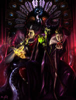 DISNEY Villains - The Throne Contenders by Chris-Darril