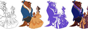 Beauty and the Beast - Easy Coloring TUTORIAL 10'
