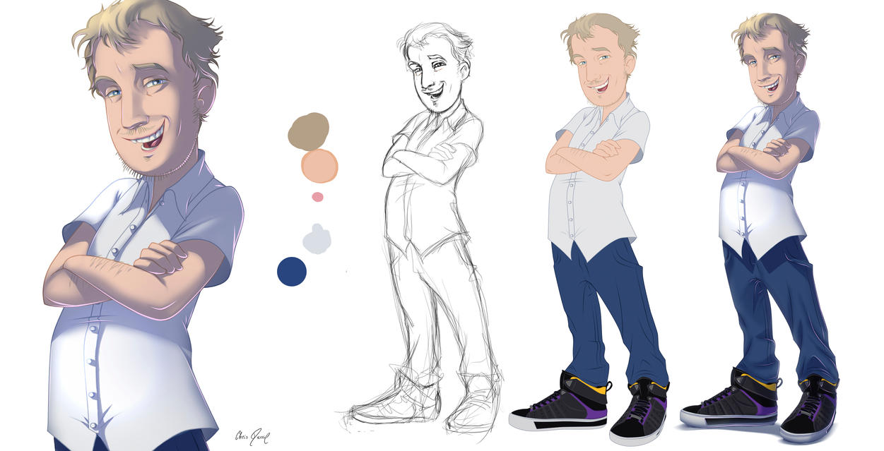 Cartoonish Character Design - Eriksson by Chris-Darril