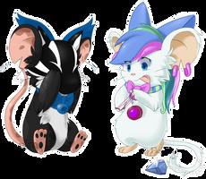 2 mice 1 yo-yo by opalhorns
