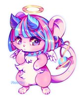 Cotton Candy Mouse by opalhorns