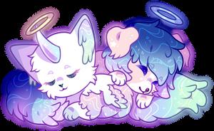cuddling by opalhorns