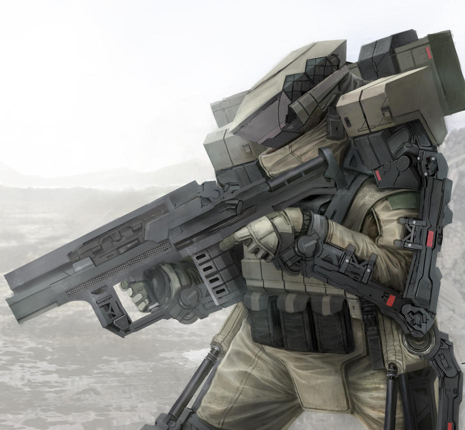 Military Exoskeleton Suit Concept by matgyro