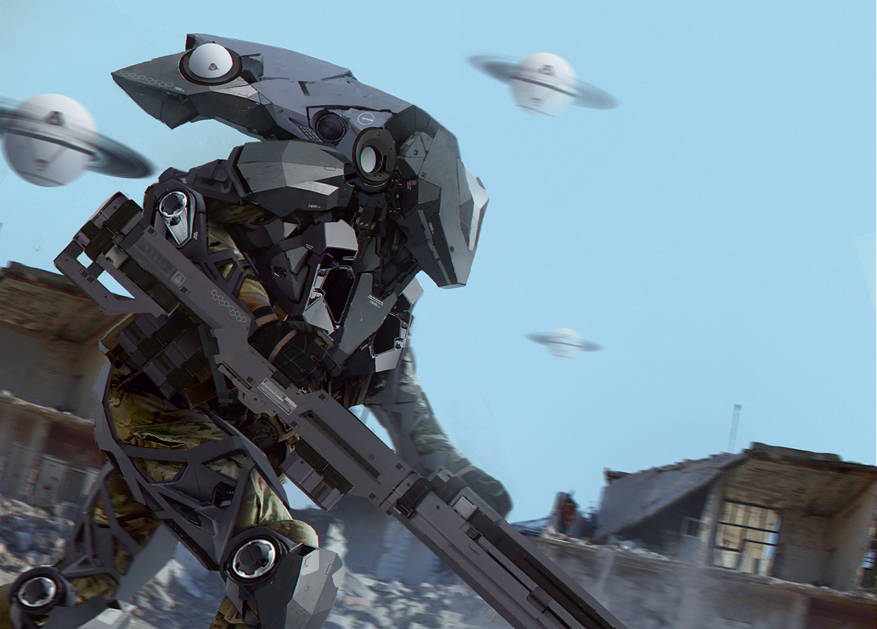 Sniper Exosuit by matgyro on DeviantArt Military Exosuit
