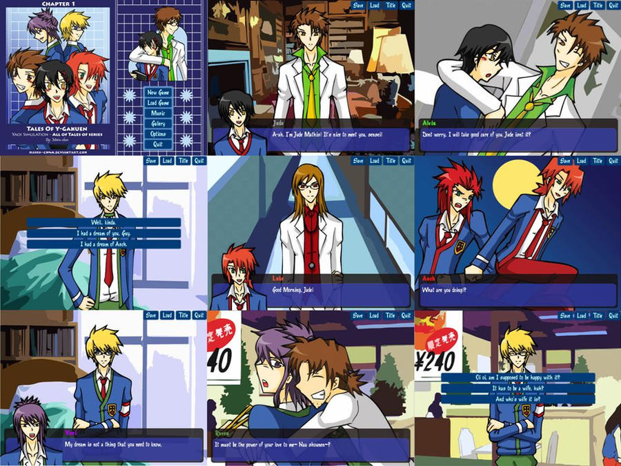 Tales Of Y-Gakuen - Simulation Game