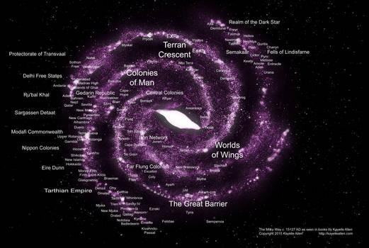Colonized Milky Way 15,127 AD