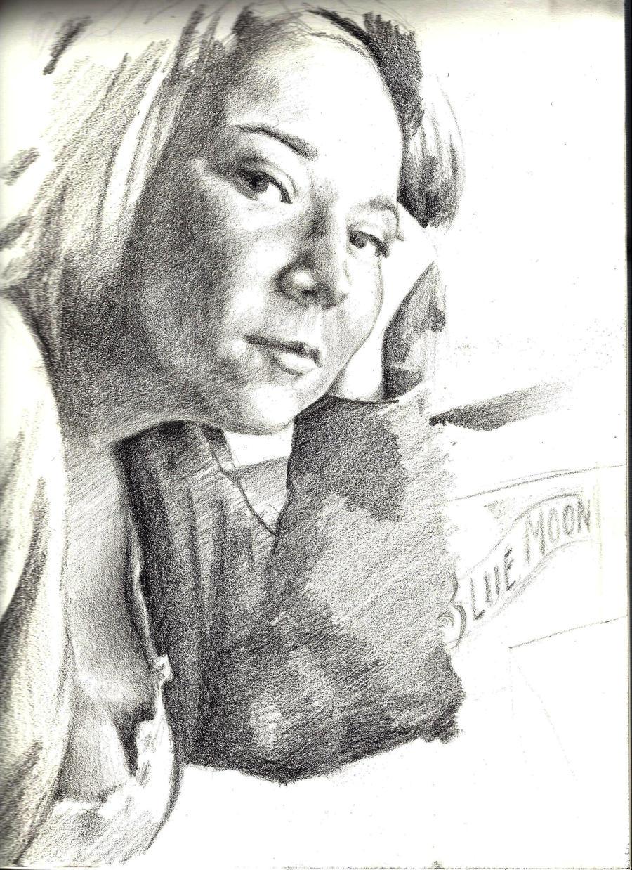 portrait of my girlfriend by dv8ordeath